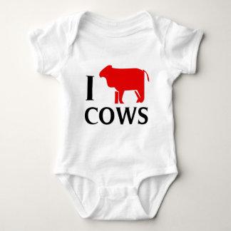 I Love Cows Baby Bodysuit