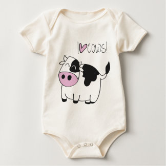 I love cows baby bodysuit