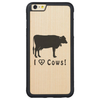 I Love Cows! Carved Maple iPhone 6 Plus Bumper Case