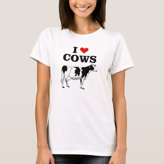 I love cows fun t-shirt