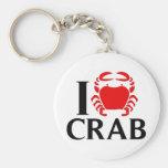 I Love Crab Key Chains