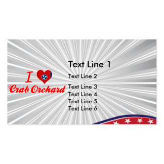 I Love Crab Orchard, Tennessee Business Card Templates