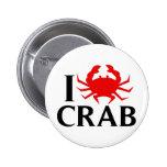 I Love Crab Pin