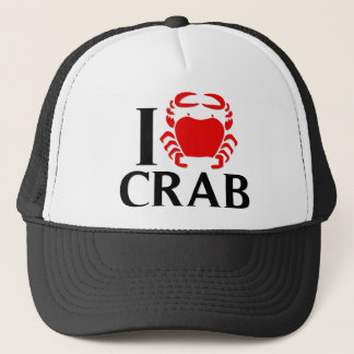 I Love Crab Trucker Hat