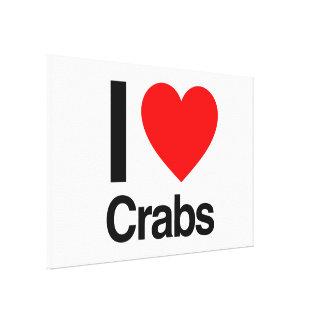 i love crabs gallery wrap canvas