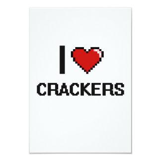 I Love Crackers 9 Cm X 13 Cm Invitation Card