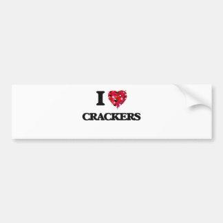 I Love Crackers food design Bumper Sticker