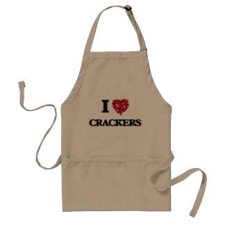 I Love Crackers food design Standard Apron