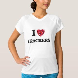 I Love Crackers food design T-shirt