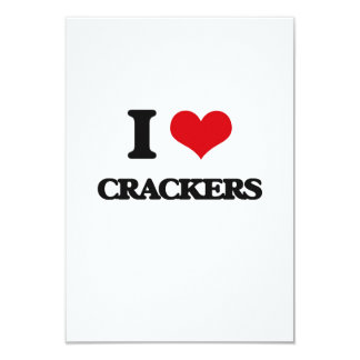 I Love Crackers Custom Invites