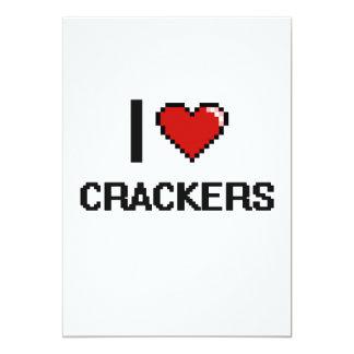 """I Love Crackers 5"""" X 7"""" Invitation Card"""