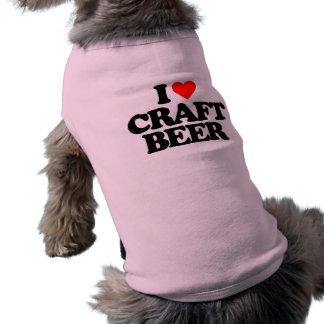 I LOVE CRAFT BEER SLEEVELESS DOG SHIRT