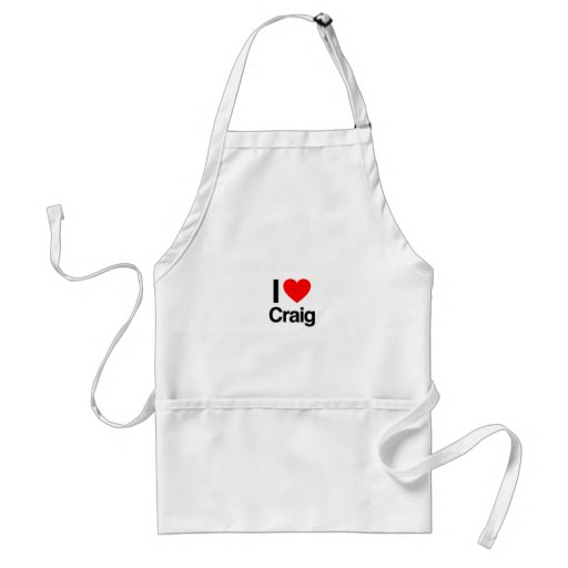 i love craig apron