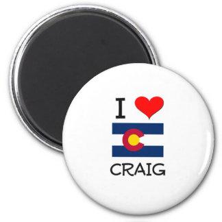 I Love CRAIG Colorado 6 Cm Round Magnet