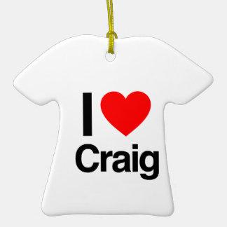 i love craig Double-Sided T-Shirt ceramic christmas ornament