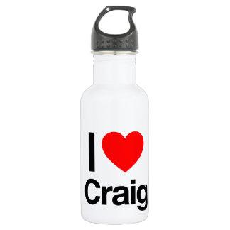 i love craig 18oz water bottle