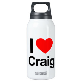 i love craig 10 oz insulated SIGG thermos water bottle