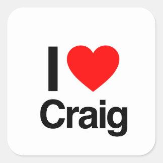 i love craig square sticker