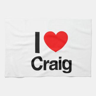 i love craig kitchen towel