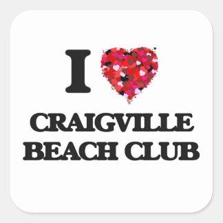 I love Craigville Beach Club Massachusetts Square Sticker