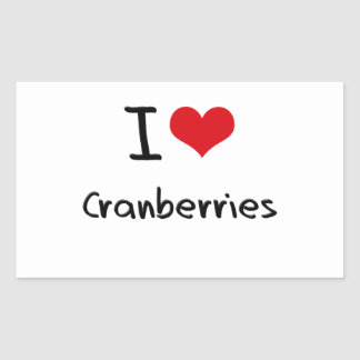 I love Cranberries Rectangle Stickers