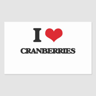 I love Cranberries Rectangle Sticker