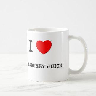 I Love CRANBERRY JUICE ( food ) Coffee Mugs