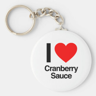 i love cranberry sauce basic round button key ring