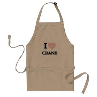 I Love Crane Standard Apron