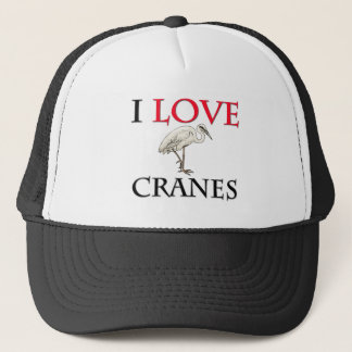 I Love Cranes Trucker Hat