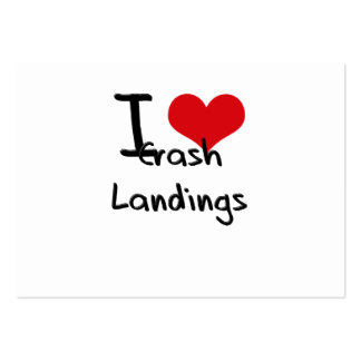 I love Crash Landings Pack Of Chubby Business Cards