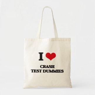 I love Crash Test Dummies Canvas Bags