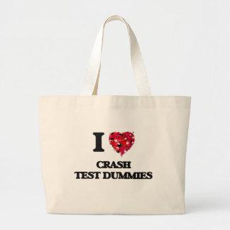 I love Crash Test Dummies Jumbo Tote Bag