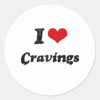I love Cravings Round Sticker