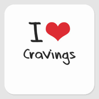 I love Cravings Square Stickers