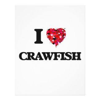 I love Crawfish 21.5 Cm X 28 Cm Flyer
