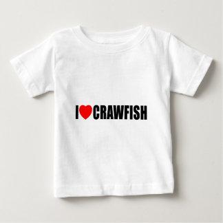I Love Crawfish Baby T-Shirt