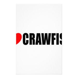 I Love Crawfish Customized Stationery