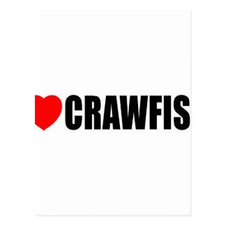 I Love Crawfish Postcard