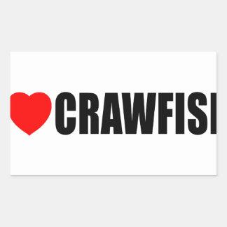 I Love Crawfish Rectangular Sticker