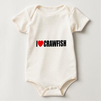 I Love Crawfish Rompers