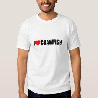 I Love Crawfish Tee Shirts