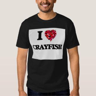 I Love Crayfish food design T Shirts