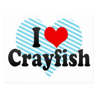 I Love Crayfish Postcard