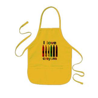 I Love Crayons Apron