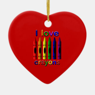 I Love Crayons Cute Christmas Ornament