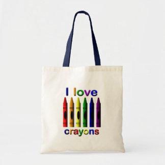 I Love Crayons Tote Bag