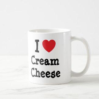I love Cream Cheese heart T-Shirt Basic White Mug