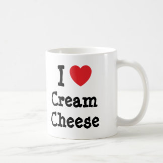 I love Cream Cheese heart T-Shirt Coffee Mug