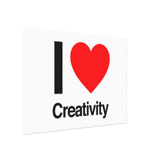 i love creativity stretched canvas prints